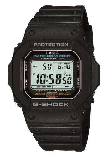 [カシオ] 腕時計 ジーショック ソーラー ELバックライトタイプ G-5600E-1JF ブラック
