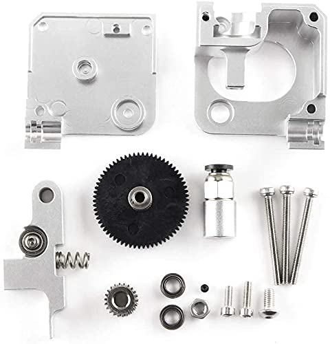 Good stability Printer Accessories 3D Printer Extruder Parts,3D Printer Parts Silver All Metal Extruder Kits Compatible with FOR T-itan Aero Extruder 1.75mm FOR P-rusa i3 MK2 3D Printer Replace damage