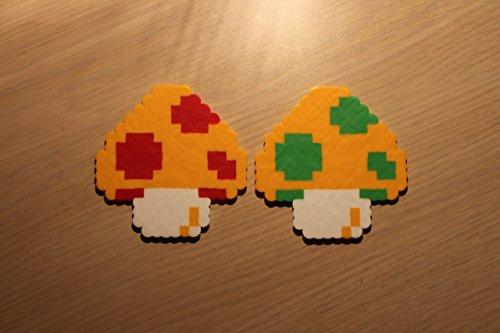 Mushroom Pixel Art Bead Sprite from Super Mario Bros