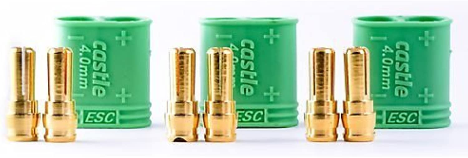 4mm CC Polarized Bullet Connector Male 011007500 by Castle Creations