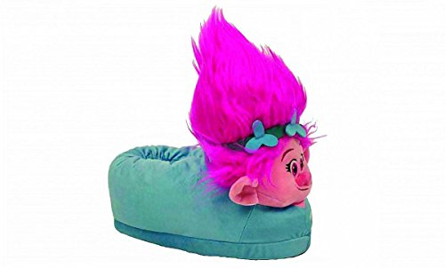 Happy Feet , Damen Hausschuhe Trolls Poppy, - Trolls Poppy - Größe: X-Large