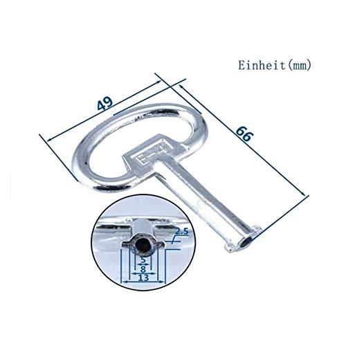Llave Ajustable Interruptor DE panel Key Lock Llave Triángulo plaza Zócalo de llave Ascensor Gabinete de tren eléctrico Armario Caja Nueva (Color : Socket M)