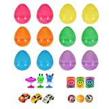 KINPARTY ® - 12 Huevos Sorpresa de Pascua con relleno de Mini juguetes