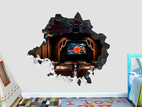 TRB muur StickersTheater scherm minions muur sticker decoratie gebroken 3d sticker kunst vinyl