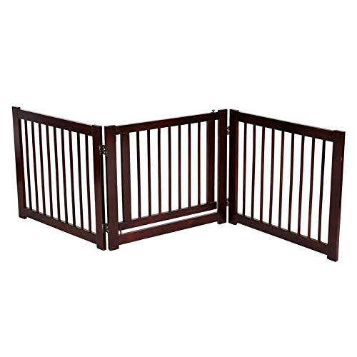 Zusammenklappbar Zaun für Hunde und andere Haustiere, 3 Kiefer Platten, für Hunde