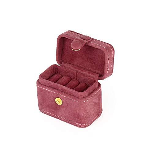 Joyero Exquisita Mini Caja De Anillo Caja De Almacenamiento De Adornos De Pendientes Caja De Joyería Portátil De Viaje