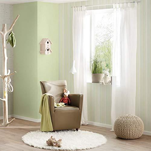 WALL-ART Umweltfreundliche gestreifte Schlafzimmer Tapete hellgrün Wandfarbe für Kinderzimmer Tapete Babyzimmer Wanddeko