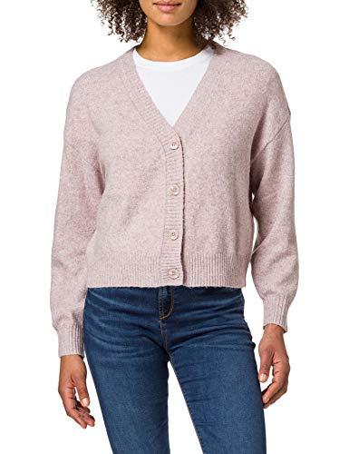 Vero Moda VMDOFFY LS V-Neck Button Cardigan LCS Suéter, Madera de rosedeta: Melange, XL para Mujer