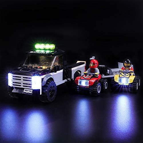 LIGHTAILING Licht-Set Für (City Quad Rennteam) Modell - LED Licht-Set Kompatibel Mit Lego 60148(Modell Nicht Enthalten)