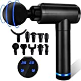 Massage Gun, Muscle Therapy Gun, Hand Held Body Deep Muscle Massager with 30 Adjustable Speeds, 10 Types of Massage Heads, Quiet & Comfortable Muscle Soreness Relieves