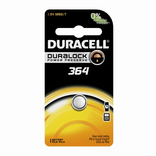 Price comparison product image Duracell D364BPK09 Silver Oxide Electronic Watch Battery,  364 Size,  1.55V