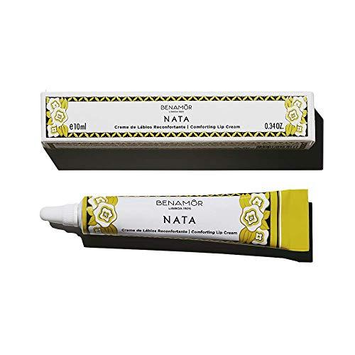 Benamôr - Crème pour les Lèvres Réconfortante Nata - Composé à 98,8% d'Ingrédients Naturels - Parfum Gourmand - Sans Paraben - Tube 10ml