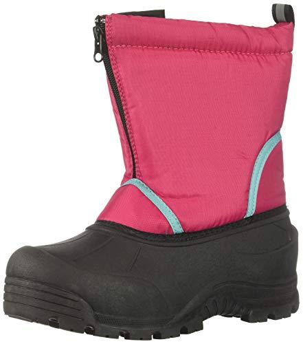 Northside Girls' Icicle Snow Boot, Fuchsia/Aqua, 1 Medium US Little Kid