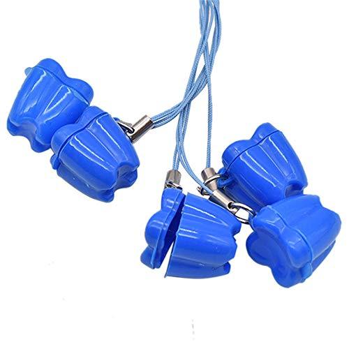 MINGZE 10 stücke Kreative Baby Kunststoff Zahn Aufbewahrungsbox, Milchzähne Box Zahnbox Zahndose Milchzahndose Zahndöschen, Zähne Speichern Boxen, Niedlichen Kind Andenken Halter Veranstalter (Blau)