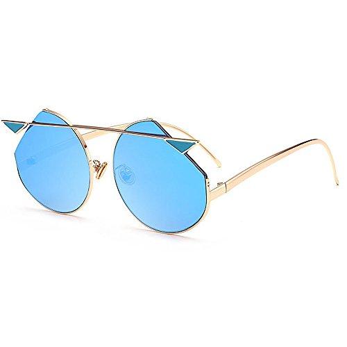 Belleashy Gafas de sol para mujer, estilo vintage, polarizadas 100% protección UV, para conducir, ciclismo, correr, pesca, golf, uso diario (color: azul)