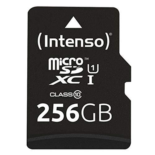 Intenso Micro SDXC 256GB Class 10 Speicherkarte inklusiv SD-Adapter (UHS-I)