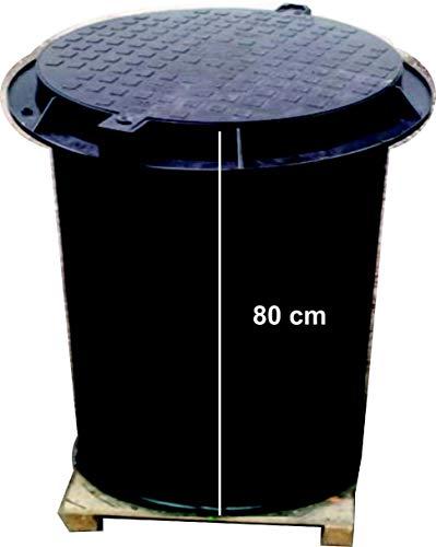 Brunnenschacht, Verteilerschacht, Kontrollschacht, Revisionsschacht, Erdschacht aus Kunststoff komplett mit einem abschließbaren Deckel mit Boden
