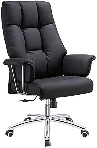 LLNN Office Chairs PU Leather Office Chair, Swivel Executive Chair with Reclining Function and Thickened Seat, Ergonomic Computer Chair