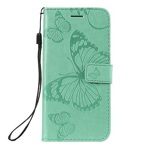 Hülle für Nokia 4.2 Hülle Handyhülle [Standfunktion] [Kartenfach] [Magnetverschluss] Tasche Flip Case Cover Etui Schutzhülle lederhülle klapphülle für Nokia4.2 - DEKT041946 Grün