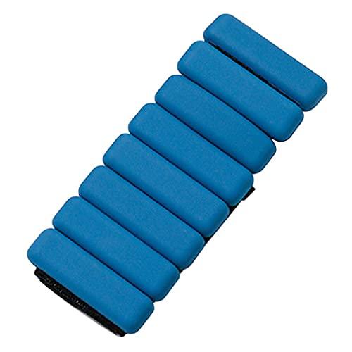 RHNE 2 Piezas de Pulsera de Silicona con botón, Adecuado para Hombres, Resistencia al Ejercicio, Peso, Entrenamiento de muñeca, Yoga, Pulsera de Peso, Azul, 7,2 * 26,5 cm