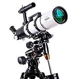 Finder Mirror 6X30, Télescope, Lunette de voyage, Télescope à réfracteur astronomique avec trépied et Lunette de visée, Télescope portable, Longueur focale 600 mm avec monture équatoriale, manuel