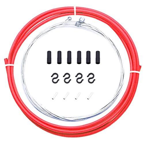 Cable interior de freno de bicicleta, cable de freno para bicicleta Mtb o bicicleta de carretera, color rojo