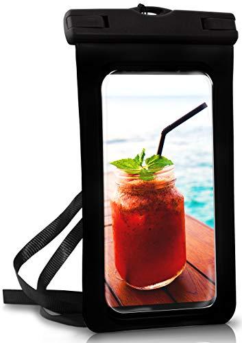 ONEFLOW® wasserdichte Handy-Hülle für alle Vernee Handys | Touch- und Kamera-Fenster + Armband & Schlaufe zum Umhängen, Schwarz (Ocean-Black)