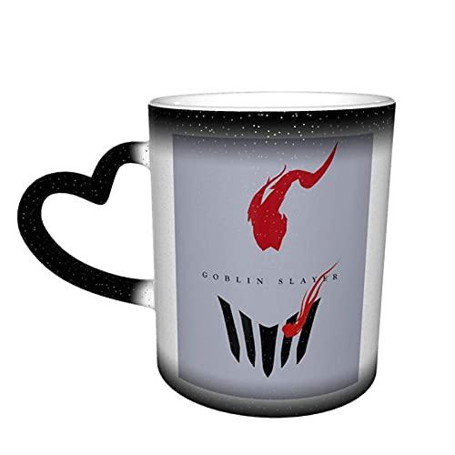 Taza cambiante de color en el cielo taza de cerámica café novedad divertido regalo negro