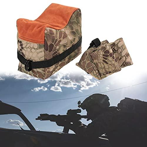 HIMAPETTR Portátil Soportes para Armas Resto Bolsa, Tactics Sacos de Arena, para Rifles/Pistola de Aire Arma Resto Caza Objetivo Tiro Práctica Camuflaje