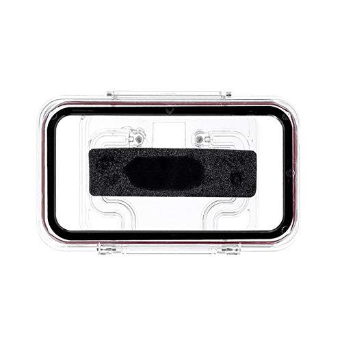 Hangarone Soporte para teléfono móvil, estante móvil, montaje en pared, resistente al agua, con pantalla táctil flexible, para cualquier teléfono, para baño y cocina