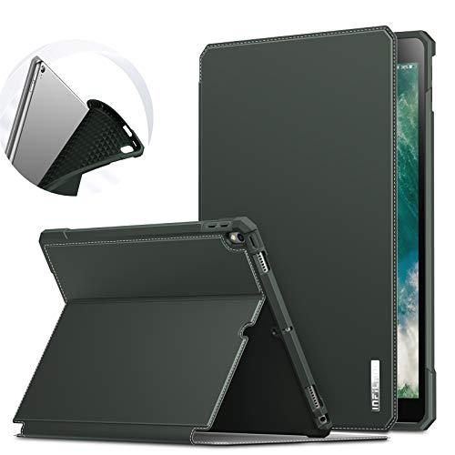 Infiland Schutzhülle für iPad Air 3, mehrere Winkel, Standfunktion, stoßfest, für iPad Air 3. Generation 2019/iPad Pro 10.5 2017 Grün - Midnight Green
