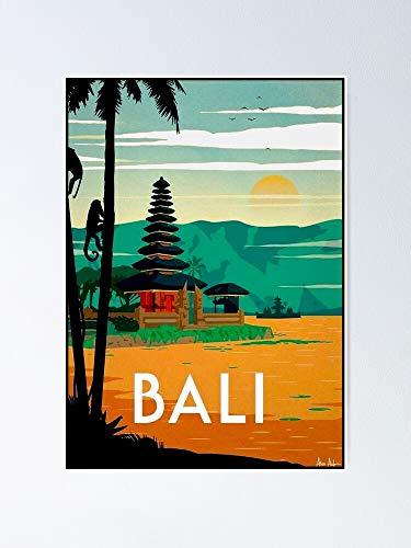 Póster vintage de Bali para viajes y turismo, para citas inspiradoras, impresiones de motivación, regalo de mujer, regalo para hombres, arte de pared de oficina, decoración de dormitorio.