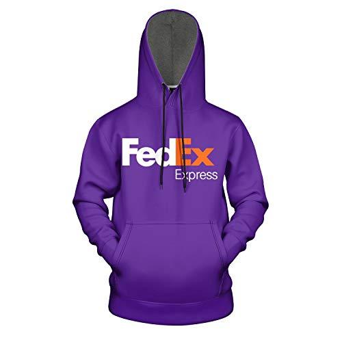 White Purple Express Symbol 3D Print Pullover Hooded Sweatshirt for Men Classic Coat