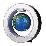 Wifehelper Globo Giratorio magnético, Globo Flotante de nivelación magnética, Mapa del Mundo, Globo terráqueo Giratorio con luz LED Decorativa