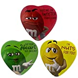 M&M's Valentine's Day Heart Shaped Gift Tins with Milk Chocolate Candies, 3.10 oz