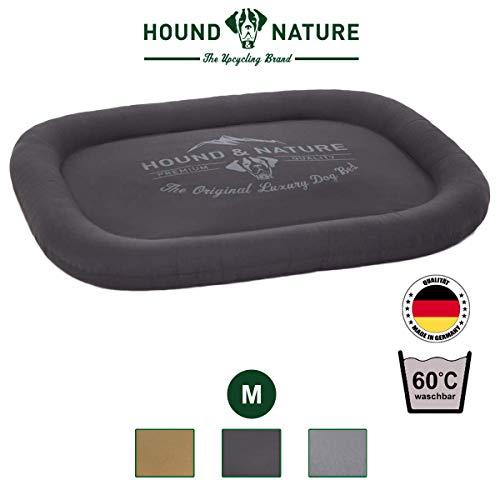 Hound & Nature Öko Hundekissen Arosa, eckig kuschelig und waschbar für kleine Hunde in M, grau, 90 x 70 x 10 cm