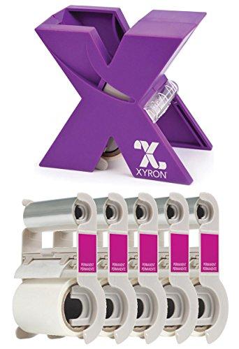 Xyron Acid-Free Permanent Adhesive Refill Cartridge for The XRN150 1.5-inch X Sticker Maker, 20-feet Each, 5 Pack (100-feet Total) Sticker Maker Machine XRN150 X 1.5 inch