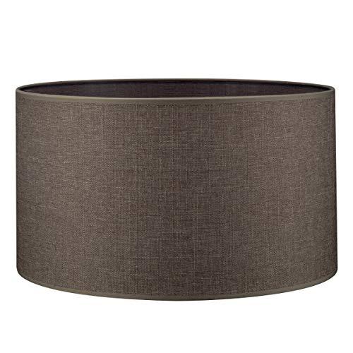 Pantalla redonda   Canvas   Pantalla de lámpara   Pantalla de forma recta   diámetro de 40 cm altura de 22 cm  