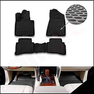 OMAC Allwetter Auto Fußmatten Automatten Kompatibel mit Hyundai Tucson 2015 2021 3D Passform Hoher Rand Gummimatten Allwetterfussmatten Schwarz 4 teilig