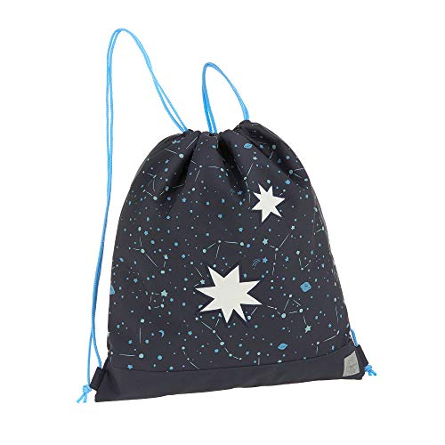 LÄSSIG Kinder Turnbeutel mit Kordelzug Rucksackfunktion Sportbeutel Schule Kindergarten/Mini String Bag Magic Bliss Boys