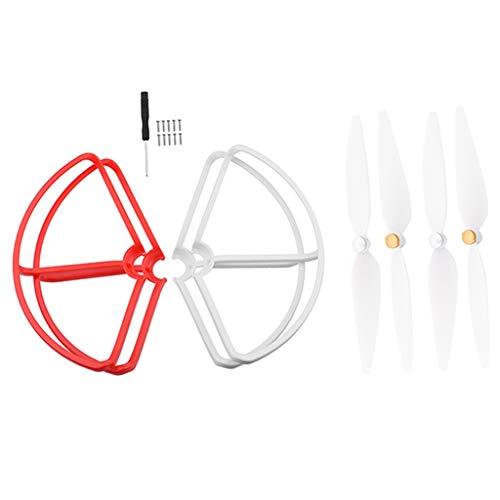 4 Pezzi Anello di Protezione per Mi Drone 4K - rosso + bianco