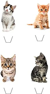 Novelty Cute Kitten Mix 12 Edible Stand up wafer paper cake toppers - UNCUT (5 - 10 BUSINESS DAYS DELIVERY FROM UK)