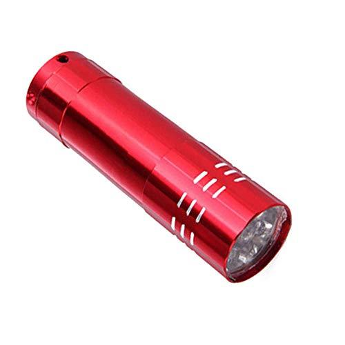 Secador uñas Mini 9 luces LED Linterna Lámpara UV