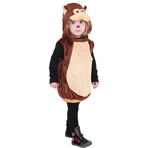 NET TOYS Affen Kostüm Kinder Affenkostüm AFFE Kinderkostüm Äffchen Tierkostüm Karneval Tier Kapuzenumhang Süßes Faschingskostüm Karnevalskostüme Tiere