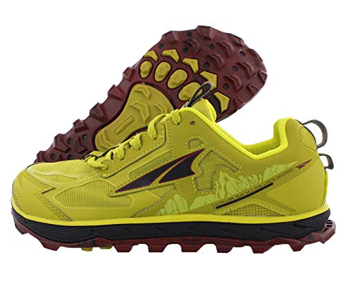 ALTRA Men's AL0A4PE5 Lone Peak 4.5 Trail Running Shoe, Lime/Red -...