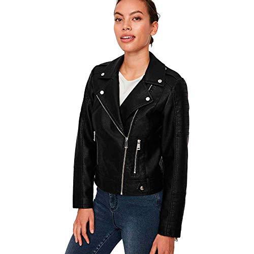 VERO MODA Damen Kunstleder-Jacke VMKerriultra Biker-Style 10228728 Black M
