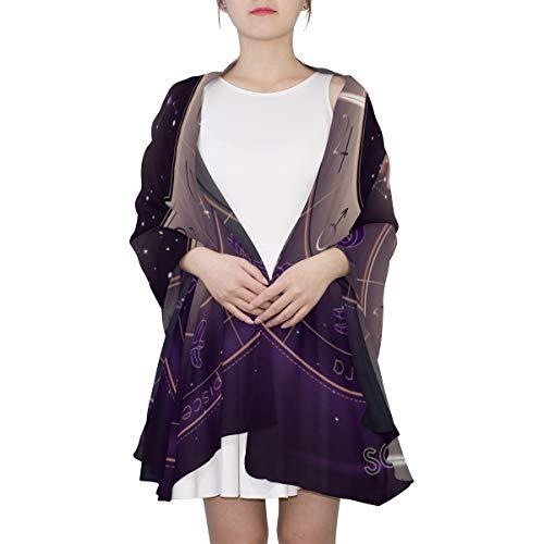 Sternbild Sternzeichen Schütze Einzigartige Mode Schal Für Frauen Leichte Mode Herbst Winter Print Schals Schal Wraps Geschenke Für den Vorfrühling