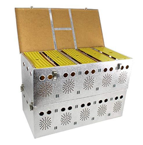 Polmark Cesta (transportín) Doble de Aluminio de 5x2 Compartimentos, para Palomas