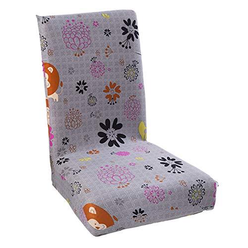N / A Funda de sofá elástica para silla de comedor, hotel, restaurante, cuatro estaciones de comedor, cubierta para silla de comedor, accesorios personalizados para decoración del hogar