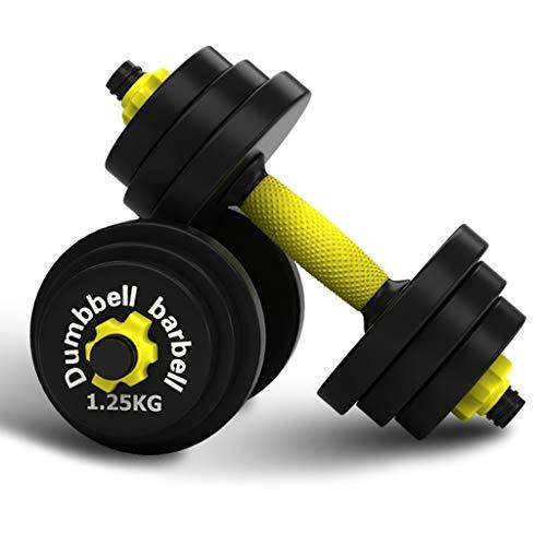 Juego de pesas ajustables para entrenamiento de 20 kg (45 libras) para gimnasio, hogar, entrenamiento de culturismo, entrenamiento